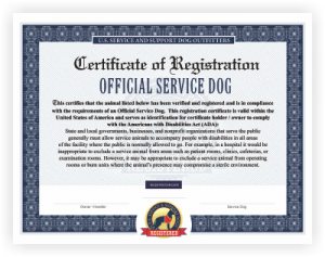 Free Service Dog RegistrationFree Service Dog Certification