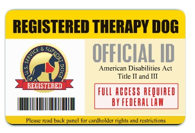 Official Service Dog Id Card