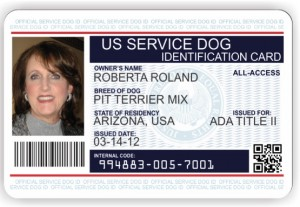 Service Dog Owner ID CARD