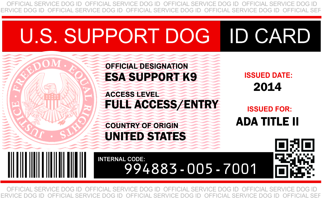 image about Free Printable Service Dog called Identification Card Illustrations : Provider Puppy Vest And Identification Card Kits