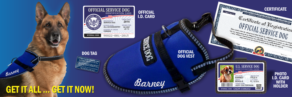 Official Service Dog Kit Service Dog Vest And Id Card Kits