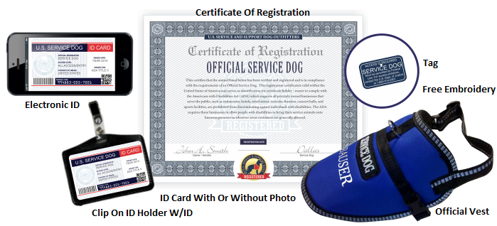 Official Therapy Dog Registration & Kits : Service Dog Vest And ID ...