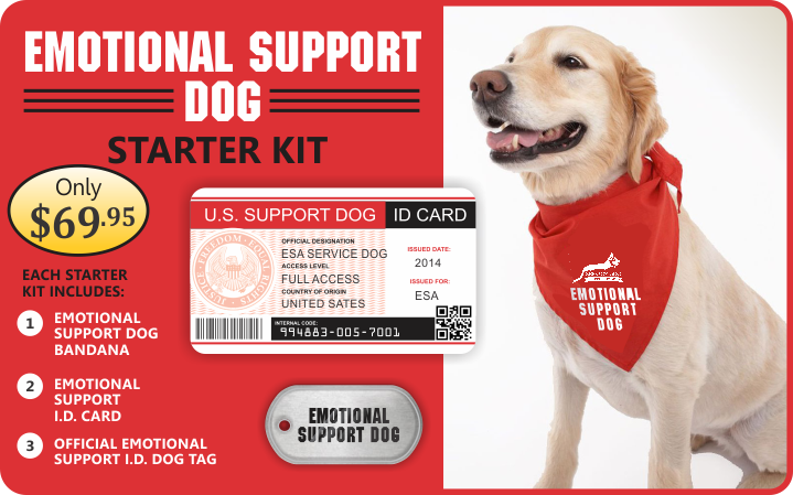 Emotional Support Service Dog Kit