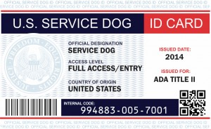 Free Service Dog Id Card Template