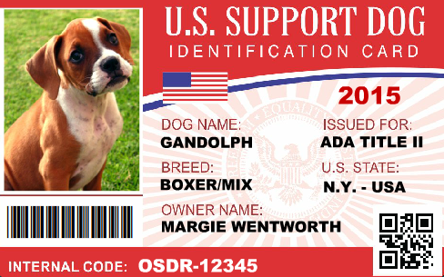 Service Dog Id Service Dog Registration Service Dog Vest